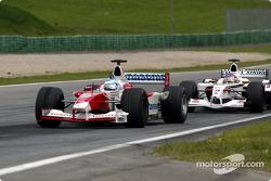 Mika Salo and Jacques Villeneuve