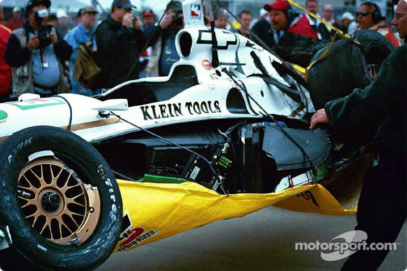 Paul Tracy's damaged car