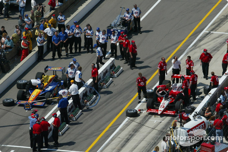 Pitstop competition: Robbie Buhl and Kenny Brack