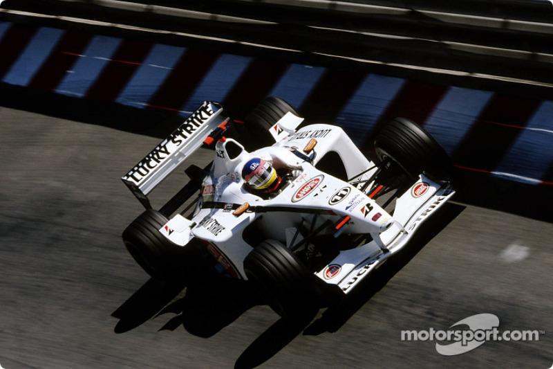 Jacques Villeneuve en la sesión de calentamiento