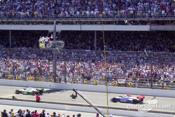 Dario Franchitti taking the checkered flag (and controversial loss)