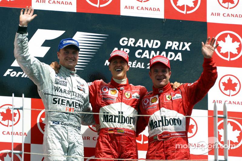 2002: 1. Михаэль Шумахер; 2. Дэвид Култхард; 3. Рубенс Баррикелло