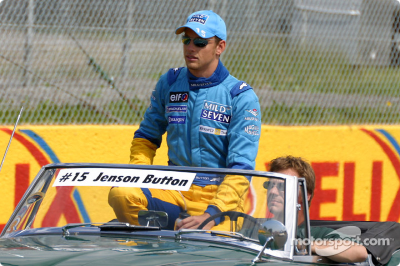 Drivers' parade: Jenson Button