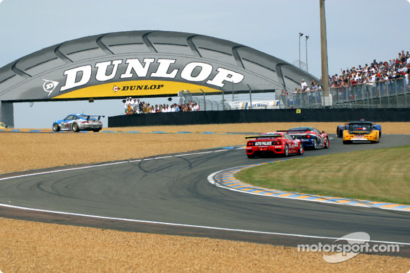 First corner: the LM GTs and GT cars
