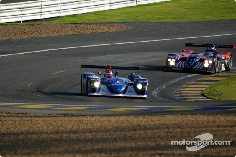 Dallara-Judd LMP de Team ORECA and y el Panoz LMP-01 Evo de Panoz Motorsports