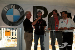 Ralf Schumacher and BMW Motorsport Director Dr. Mario Theisse with ADAC sports director Hermann Tomczyk