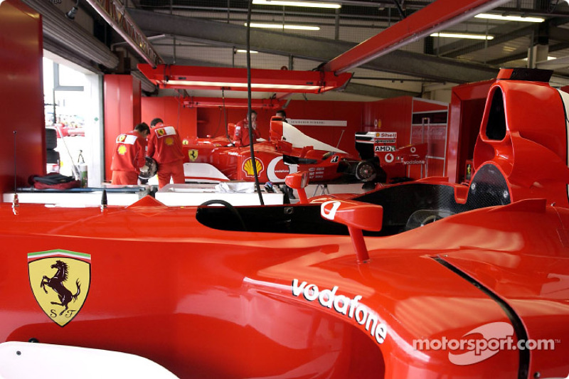 Team Ferrari garage area