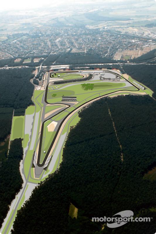 The re-designed part of Hockenheim's Grand Prix circuit