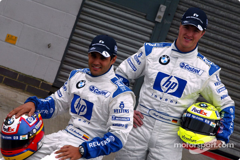 Presentation of the new HP livery on the Williams-BMW: Juan Pablo Montoya and Ralf Schumacher