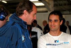 Gerhard Berger y Juan Pablo Montoya