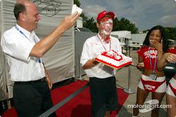 Birthday surprise for Tom Kristensen