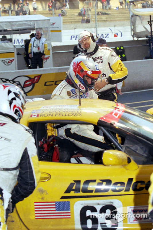 Parada en pits en Corvette Racing