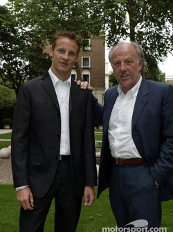 Jenson Button y David Richards