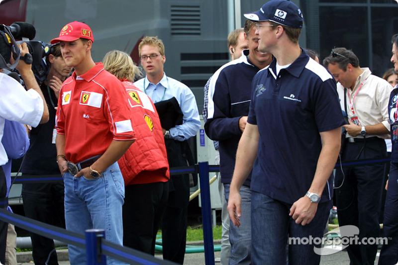 TV interview for Michael and Ralf Schumacher