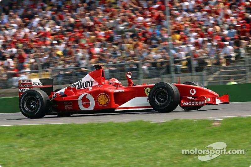 2002 - Hockenheim: Michael Schumacher, Ferrari F2002
