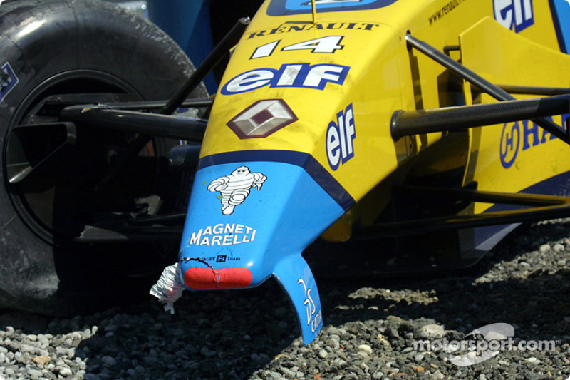 Jarno Trulli's damaged car