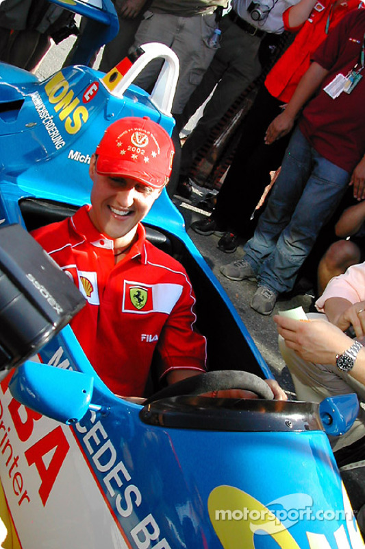 Michael Schumacher tras la carrera