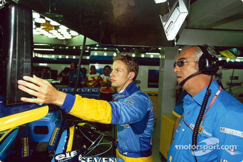 Jenson Button and Flavio Briatore