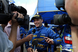 TV interview for Petter Solberg