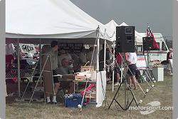 Registration tent