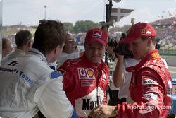 Ralf Schumacher, Rubens Barrichello and Michael Schumacher