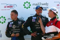 The podium: Max Angelelli and J.J. Lehto