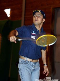 Visita al Malmedy Handball Club y el Badminton Club de Malmedy: Felipe Massa