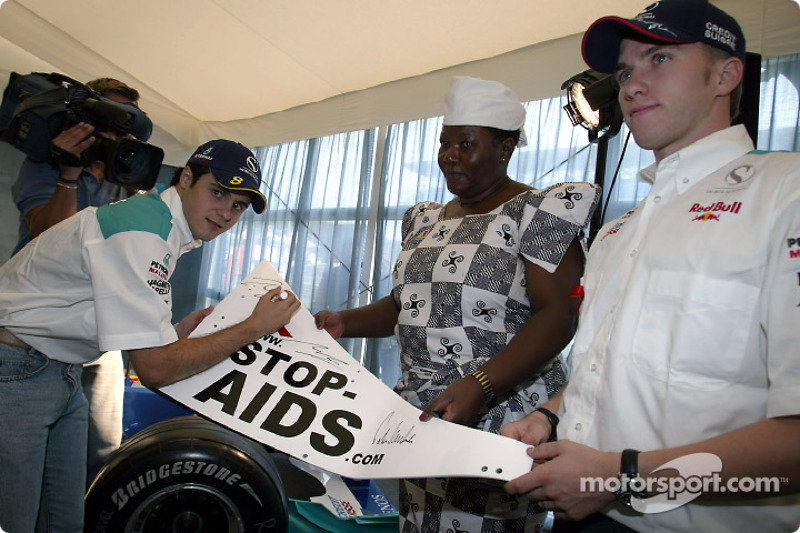 Sauber Petronas and United Nations join forces against HIV/AIDS: Felipe Massa and Nick Heidfeld