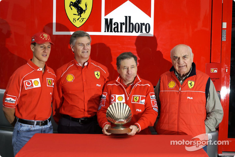 Shell presentation: Jean Todt, Michael Schumacher and Froilan Gonzalez