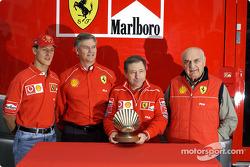 Shell presentation: Jean Todt, Michael Schumacher and Froilan Gonzalez