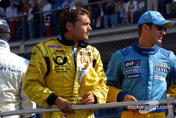 Drivers' parade: Giancarlo Fisichella and Jarno Trulli