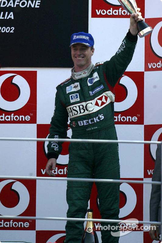 El podio: Eddie Irvine