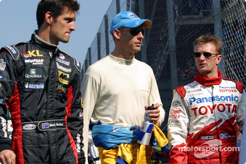 Mark Webber, Jenson Button y Allan McNish