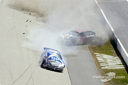Jerry Nadeau and Ward Burton crash