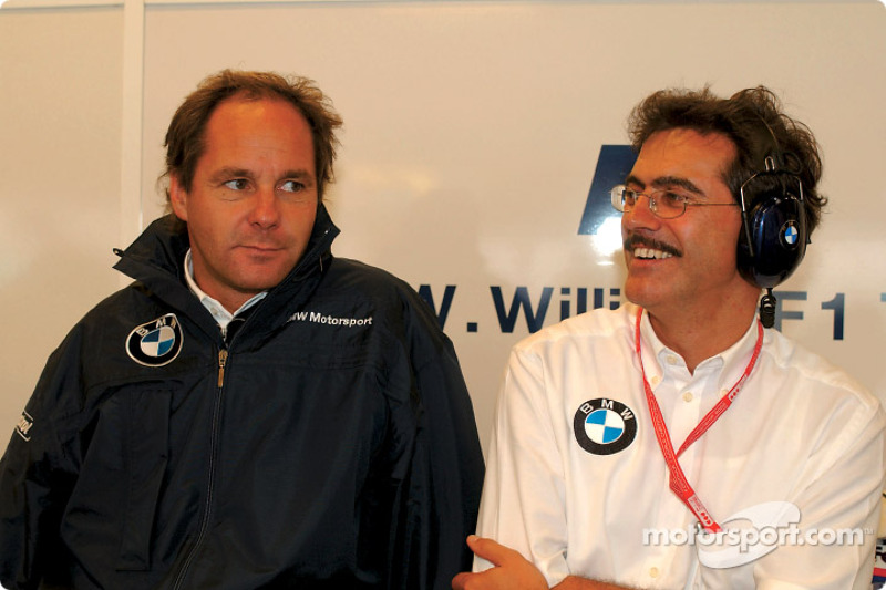 Gerhard Berger y Mario Theissen