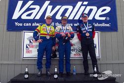 The podium: race winner Duane Davis with David Finch and Bill Reid
