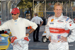 Emanuele Pirro and Frank Biela