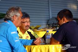 Flavio Briatore, Eddie Jordan and Juan Pablo Montoya
