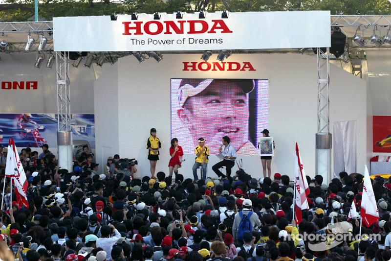 Takuma Sato at the Honda night
