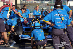 Pitstop practice at Team Renault F1
