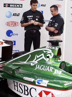 Mark Webber and race engineer Stefano Sordo