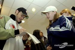Autograph session for Jacques Villeneuve