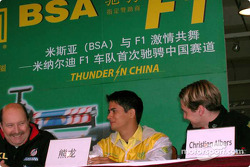 Press conference with Alex Yoong and Christijan Albers