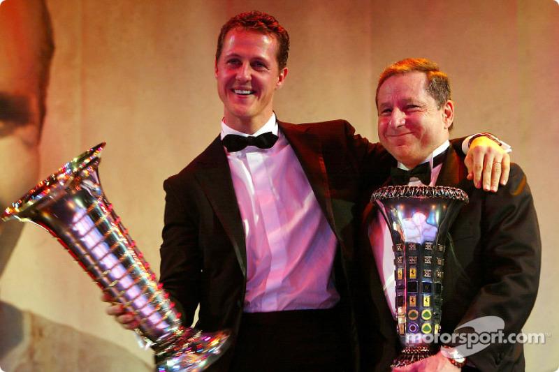 Michael Schumacher (1st) and Jean Todt (Team)