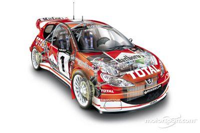 Presentación del Peugeot 206 WRC 2003