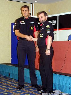 Justin Wilson y Paul Stoddart
