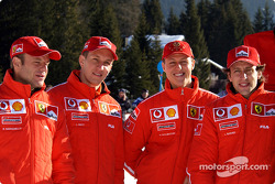 Rubens Barrichello, Luciano Burti, Michael Schumacher and Luca Badoer