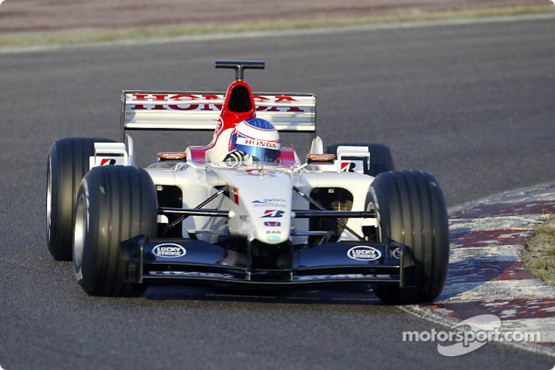 Shakedown for the new BAR Honda 005: Jenson Button