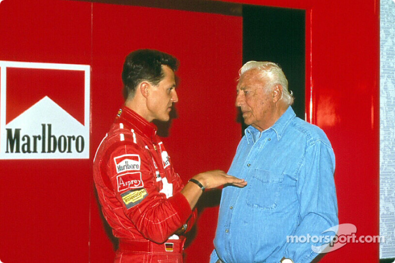 Michael Schumacher and Gianni Agnelli