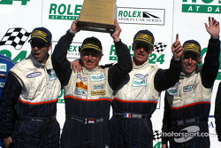 The podium: GTS first place #24 Perspective Racing Mosler MT900R: Jérôme Policand, Michel Neugarten, Andy Wallace, Joao Barbosa